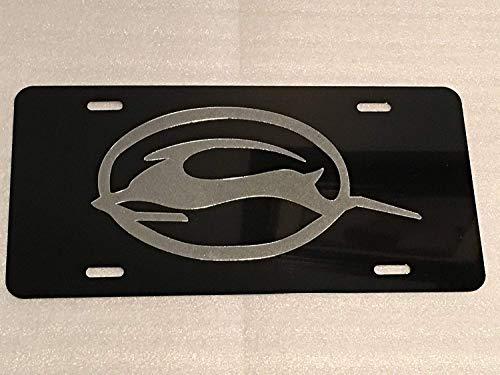 maitongzaix Impala 2 Logo Car Tag on Black Aluminum License Plate