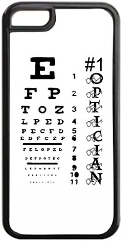 #1 Optician-Eyesight Chart-TM Apple iPhone 6, 6s ONLY!! (Not Compatible with the iPhone 6 PLUS or 6s PLUS) Black Plastic Protective Phone Case Made in the USA