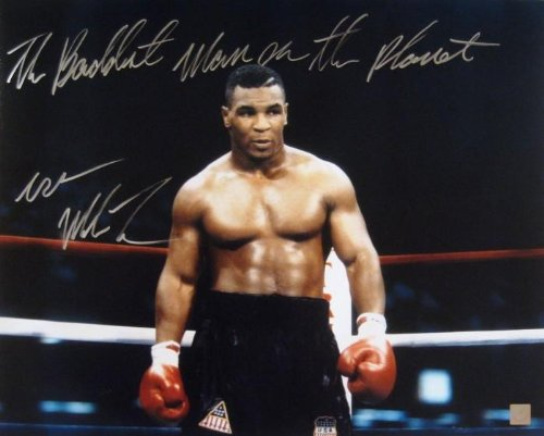 Mike Tyson Signed 16x20 Coming Out Of Corner