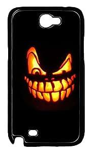 Samsung Note 2 Case Evil Face Pumpkin PC Custom Samsung Note 2 Case Cover Black