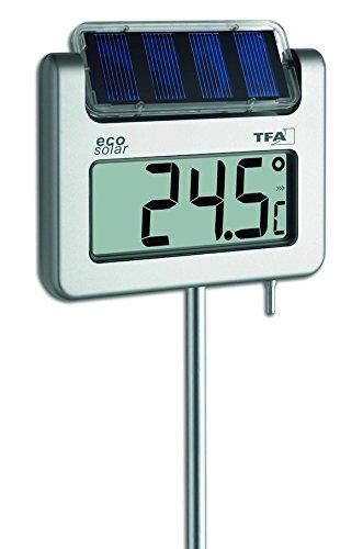 TFA Dostmann digitales Solar-Gartenthermometer Avenue 30.2026