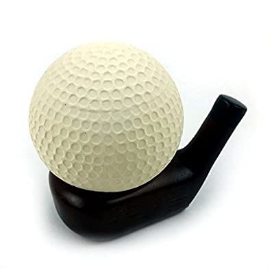Golf Stress Ball with Wood Club Stand.