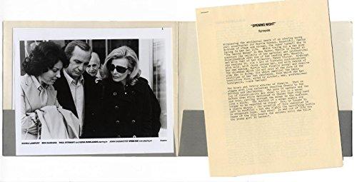OPENING NIGHT (1977) Press kit with 6 b&w stills + 7 pp. text Cassavetes - 1977 Photo B&w