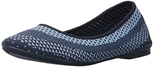 Skechers Womens Cleo Hot Dot Ballet Flat, Navy, 7 M Us