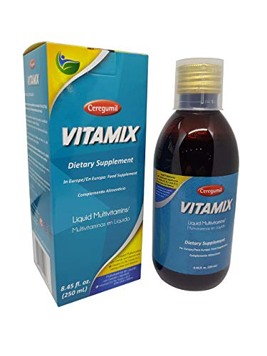 Ceregumil VITAMIX Liquid Multivitamin with Vitamin B Complex (B12, B6), Vitamin D3 & Biotin | Natural, Mediterranean Plant-Based Formula for Children, Teens, Adults & Seniors