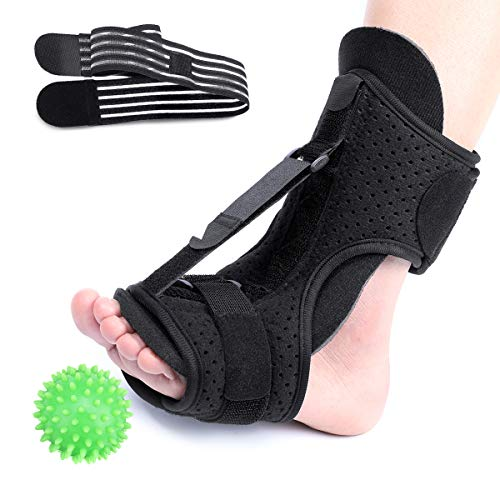 CHARMINER Plantar Fasciitis Night Splint Foot Drop Orthotic Brace, Adjustable Elastic Dorsal Splint, Effective Relief from Plantar Fasciitis Pain, Heel, Arch Foot Pain