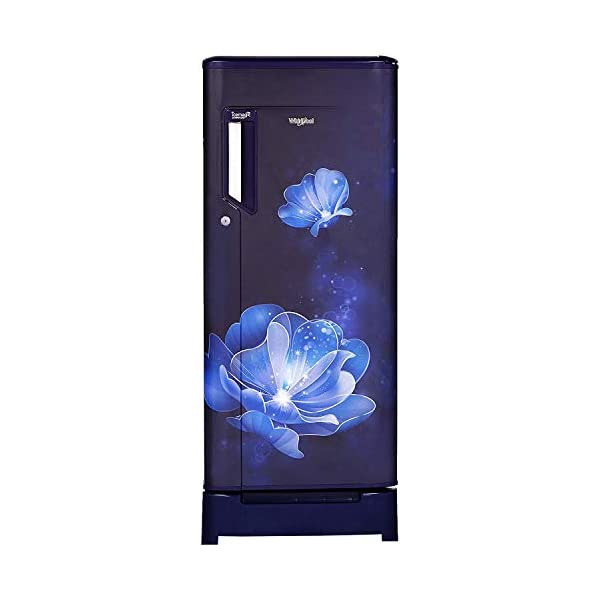 Whirlpool 200 L 4 Star Inverter Direct-Cool Single Door Refrigerator (215 ICEMAGIC PWCL ROY 4S INV, Sapphire Radiance… 2021 August Direct Cool Refrigerator, 200 L. Convertible Refrigerator:No IntelliSense Inverter Technology with starting voltage of 95V & 25 years of VDE certification Upto 12 hours of cooling retention during power cuts