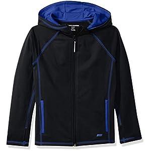 Amazon Essentials Boys' Active Performance Hooded Full-Zip Jacket
