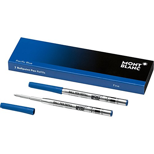 Montblanc Ballpoint Pen Refills (F) Mystery Black 116189 - Refill Cartridges with a Fine Tip for Montblanc Ball Pens - 2 x Black Ballpoint Refills