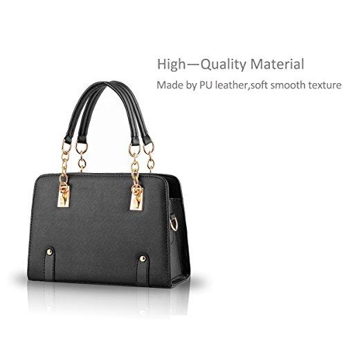 NICOLE&DORIS nuevas mujeres del bolso de hombro cadena de moda bolsa de mensajero del monedero Black