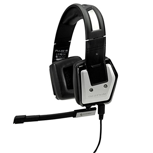 CM Storm Pulse-R Customizable Aluminum PC Gaming Headset with Detachable Mic and LED Lighting For Sale