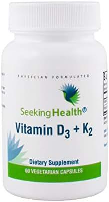 Vitamin D3 + K2 Seeking Health - 60 Vegetarian Capsules