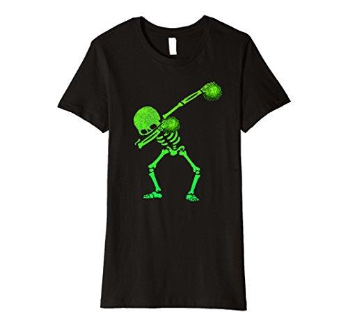 Womens Halloween Dabbing Skeleton Cheerleader Dab T-Shirt Small Black - Vampire Cheerleaders Costumes