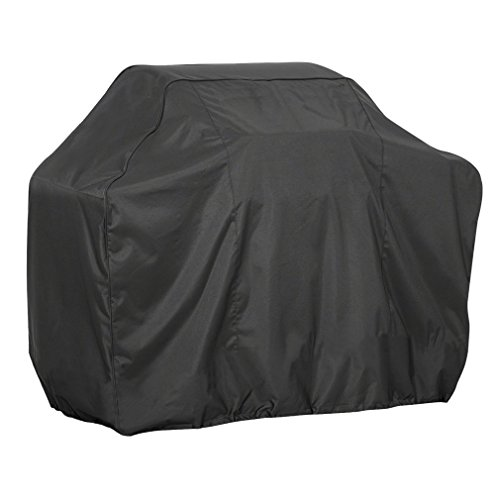 Feeto Durable Polyester Premium BBQ Grill Cover ,Gas Grill Cover Outdoor Waterproof Barbecue Grill Protector 57 Inch -Black
