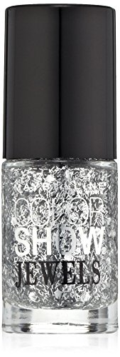 Maybelline New York Color Show Jewels Nail Lacquer Top Coat, Platinum Adorn, 0.23 Fluid - Platinum Jewel