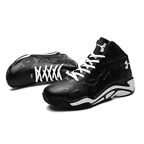Sport Soulagement Homme Synthétique À l'usure De Chaussures Sneakers 40 Basketball Non 3D Cuir en Mode Résistant Slip Black 0qScwz
