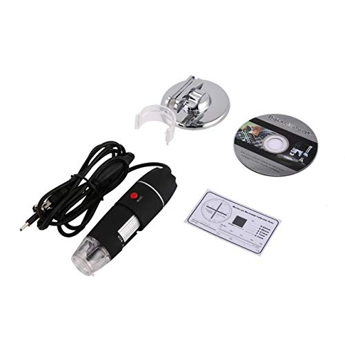 8 LED Digital Microscope Three in One USB Endoscope Camera Microscopio 800X Stereo Electronic Magnifier Plug and Play ()