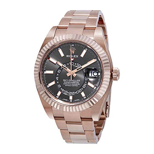 Rolex Sky-Dweller Dark Rhodium Automatic Men's 18kt Everrose Gold Oyster Watch 326935DRSO