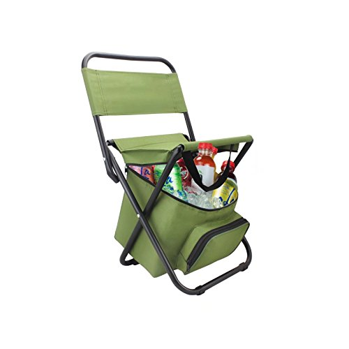 BeGrit Multi-Purpose Cooler Chair Folding Stool with Cooler Bag for Hiking Fishing Camping Picnic Backpacking by BeGrit (Image #6)