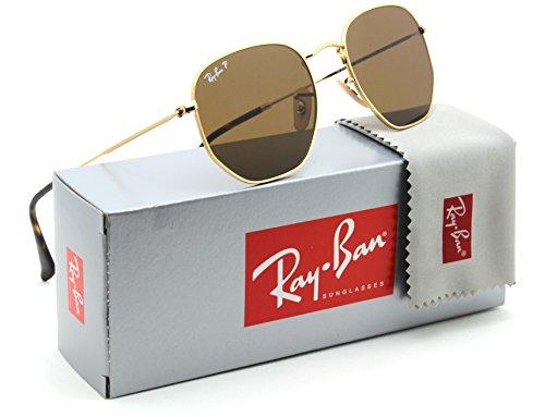 Ray-Ban RB3548N Hexagonal Flat Lenses Polarized Sunglasses 001/57 - - Hexagonal Ban Ray