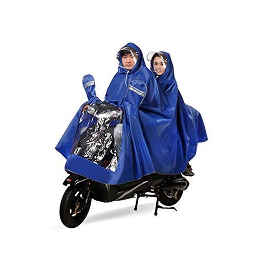 Geyao La Blue Xxxxl Double L'épaississement Blue Et Poncho Taille Batterie Augmentant Moto Bicyclette De Size Électrique D'enfant D'adulte Mère color rrd7BUnax