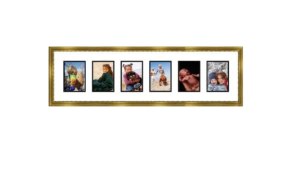 Amazon.com - Gold Collage Picture Frame with 6 rectangle openings for 3.5 X 5 photos -