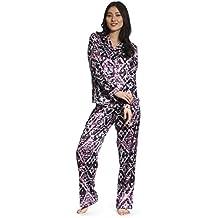 Jones New York Women's Long Sleeve & Pant Satin Pajamas