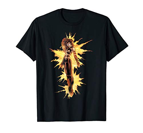 Marvel X-Men Phoenix Jean Grey On Fire Graphic T-Shirt