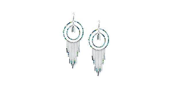 Golden and Black Free Pattern Seed Beads Handmade Jewellery Earrings For Girls and Women ZeroKaata Fashion Jewellery Turquoise