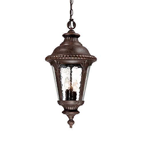 Acclaim 7226BC Surrey Collection 3-Light Outdoor Light Fixture Hanging Lantern, Black Coral