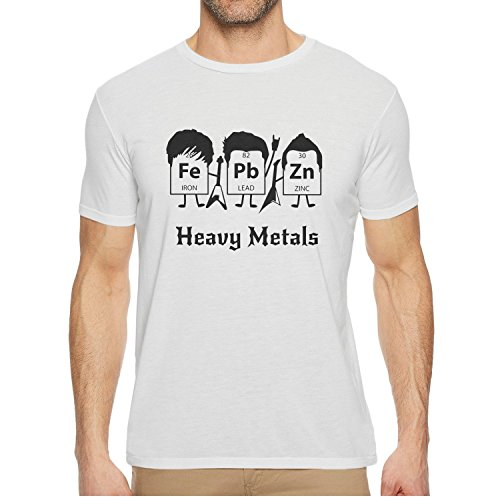 - Qqppgg Heavy Metals Periodic Table Men Short Sleeve Stylish T Shirt