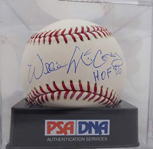 Willie Mccovey Autographed Signed Memorabilia Official MLB Baseball San Francisco Giants Hof 86 Graded 10 - PSA/DNA Authentic