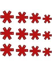 HEMOTON 12 peças protetoras de panela, separando feltro, tapete compacto, flexível, divisória de flores para cozinha doméstica