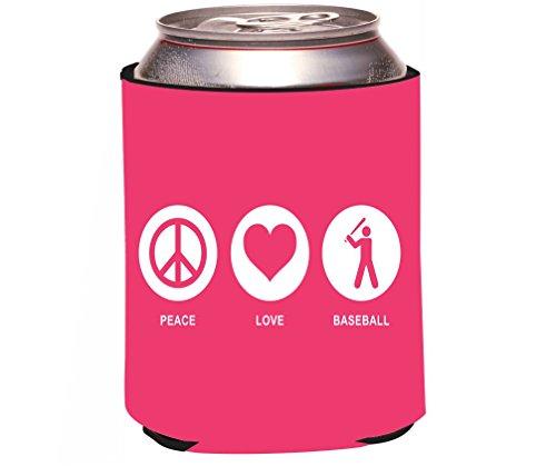 rikki knight rkws -- 42761', Paz, amor béisbol Tropical rosa diseño de color 'latas de cerveza/soda Enfriador de bebida