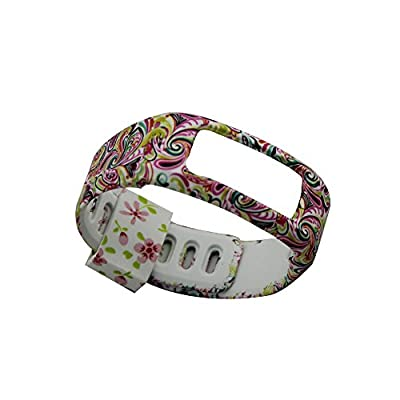 1PCS Colorful Spots Replacement Wrist Band for Garmin Vivofit (No Tracker, Replacement Bands Only) (Flower12, Small)