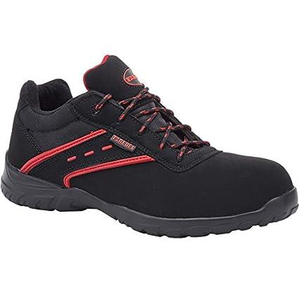 Paredes ACTINIO NEGRO PAREDES SP5016-NE/44 - Zapato seguridad negro y rojo,