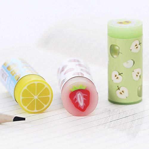 24 pcs/Lot Colorful fruit eraser for pencil erasing Novelty Lemon Apple Stationery Office supplies borracha escolar by PomPomHome (Image #5)