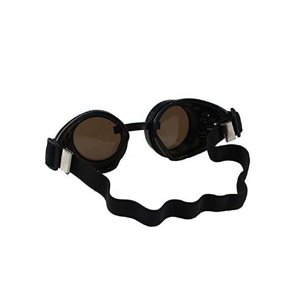 Sannysis Vintage Style Steampunk Goggles Welding Punk Glasses 4