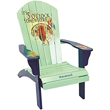 Magnificent Margaritaville Outdoor Patio Wood Adirondack Chair Its 5 Oclock Somewhere Mint Bralicious Painted Fabric Chair Ideas Braliciousco