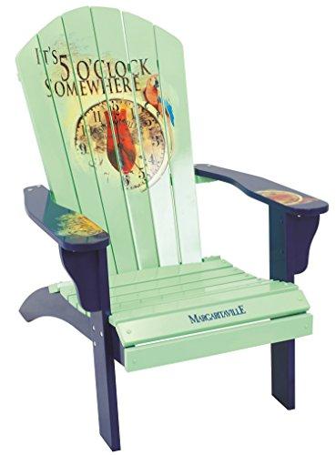 Margaritaville Outdoor Patio Wood Adirondack Chair, Its 5 OClock Somewhere, Mint