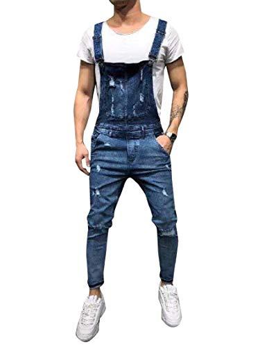 [해외]쿨 레드-남성 전체 서 스 펜더 옥스포드 슬링 데님 하 렘 캐주얼 바지 / Coolred-Men Overall Suspenders Oxford Sling Denim Harem Casual Pants
