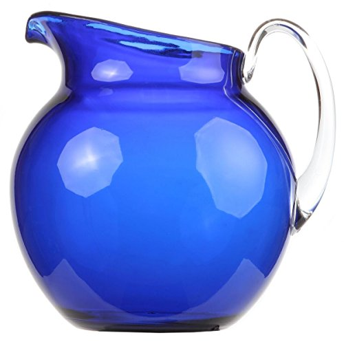 Lily's Home Shatterproof Plastic Pitcher, the Large Capacity Makes it Excellent for Parties, Both Indoor and Outdoor, Blue (110 Ounces) ()