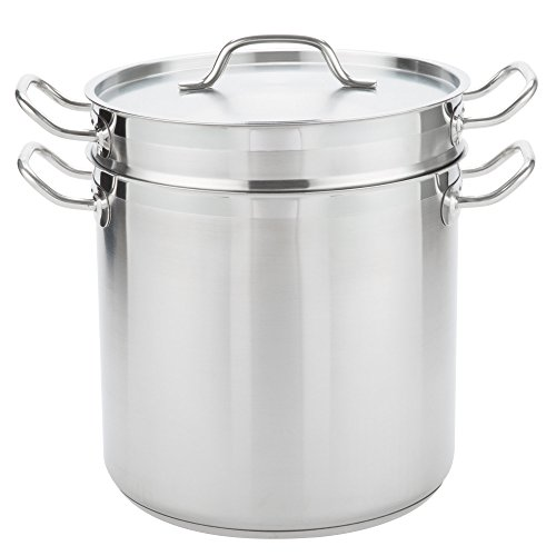 TableTop King 16 Qt Stainless Steel Aluminum-Clad Double Boiler by TableTop King