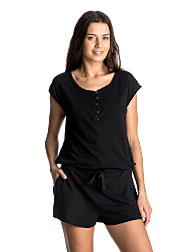 Roxy Women's Always on My Mind Short Romper, Anthracite, S