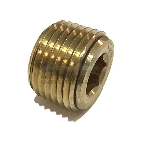 EDGE INDUSTRIAL Brass COUNTERSUNK HEX Plug 1/2