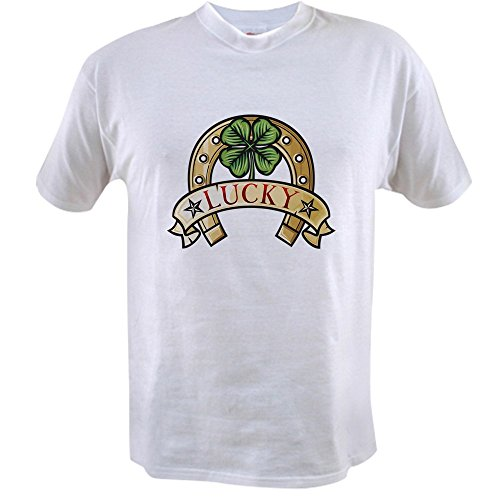 Truly Teague Value T-Shirt Lucky Horseshoe with Four Leaf Clover - 3X