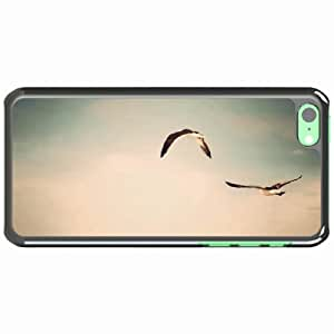 iPhone 5C Black Hardshell Case flight birds sky Desin Images Protector Back Cover by runtopwell