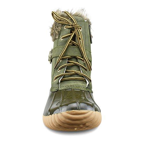 Premier Standard Frauen Sticken Lace Up Side Zip wasserdichte isolierte Schneeschuhe Premier Olive