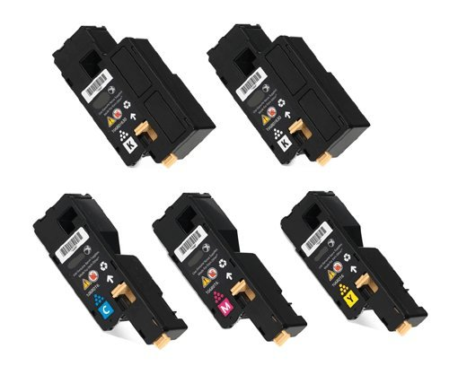 Compatible Toner Cartridges for Xerox Phaser 6000, 6010, Workcentre 6015 – 5pk (2BK + CMY), Office Central