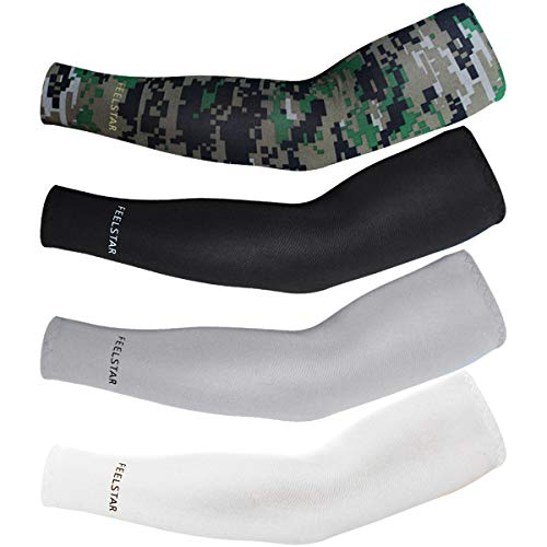 - 4pairs Cycling ,Movement ,Golf,baseball,Football,Running,adults ProtectsUV Cover Arm Sleeves Cooling